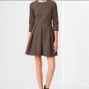 BOGO Gap Tan & Black Oxford Stripe Fit Dress